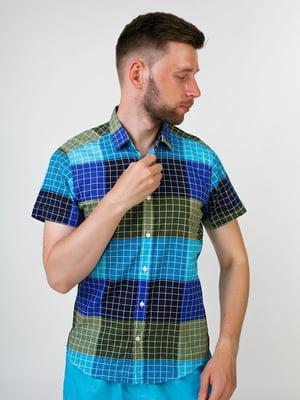 Рубашка разноцветная в клетку   5474707