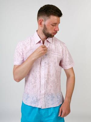 Сорочка рожева в принт | 5474638