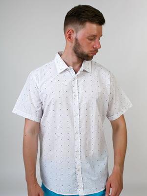 Рубашка белая в принт | 5474623