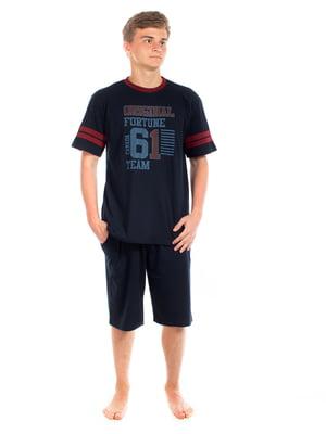 Пижама: футболка и шорты | 5402074