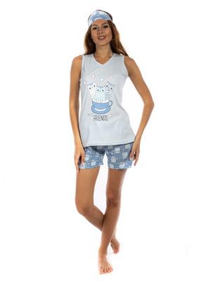 Пижама: майка и шорты | 5478580