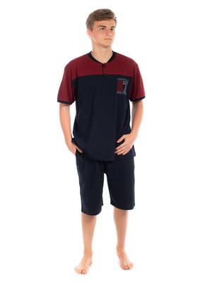 Пижама: футболка и шорты | 5478587