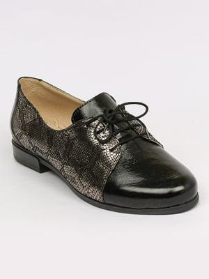 Туфли черно-серебристого цвета | 5478134