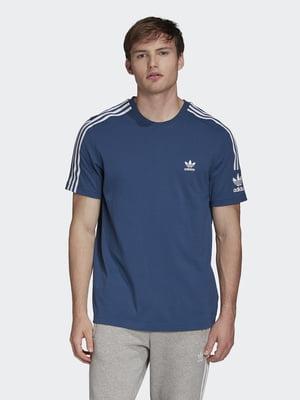 Футболка синяя с логотипом | 5463553