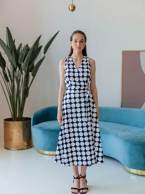 Сукня синя в білий горох | 5482979