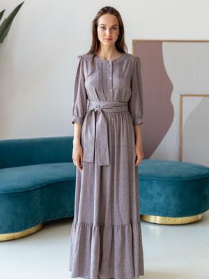 Сукня сіро-бузкового кольору | 5482997