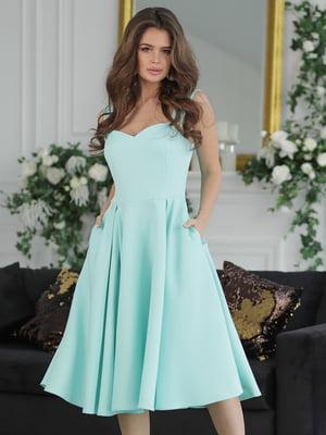 Платье мятного цвета | 5464359
