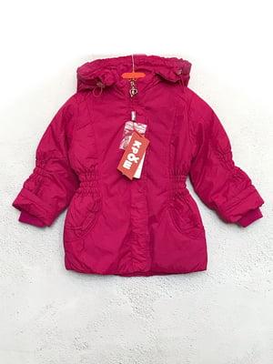 Куртка малинового кольору | 5483437