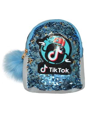 Рюкзак блакитний з малюнком | 5483506
