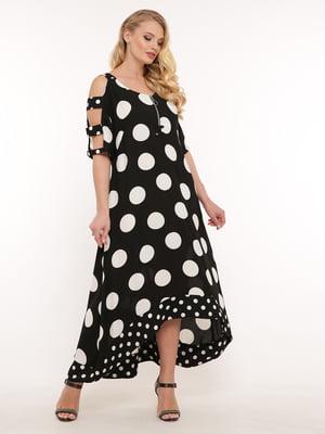 Платье черное в белый горох | 5483513