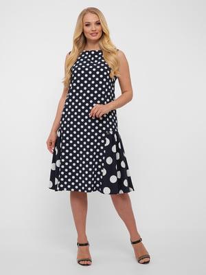 Сукня синя в білий горох   5483520