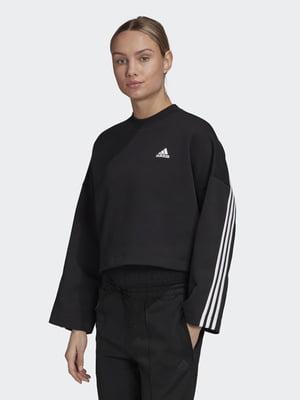 Джемпер черно-белый с полоской | 5483781