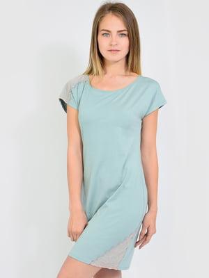 Платье домашнее ментолового цвета | 5483816