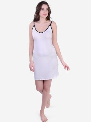 Сорочка нічна молочного кольору в дрібний горох | 5483819