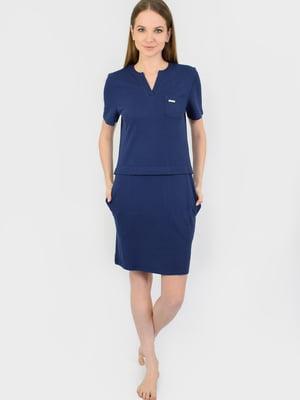 Платье синее   5483845