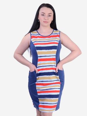 Сукня синя в смужку | 5483850