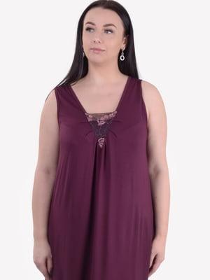 Сорочка нічна кольору марсали | 5483884