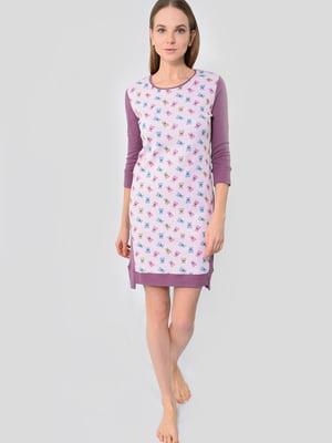 Сукня рожева у принт | 5483888