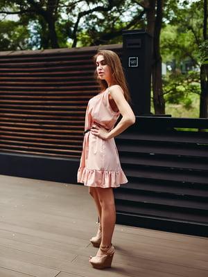 Сукня кольору пудри | 5483430
