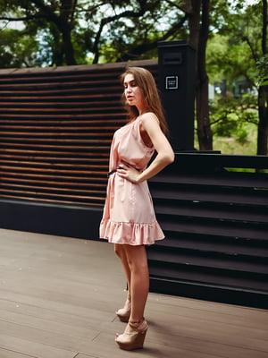 Сукня кольору пудри | 5483431