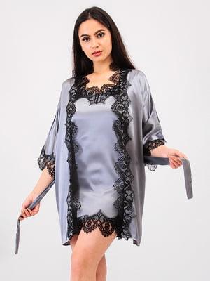 Комплект: халат і пеньюар | 5483976