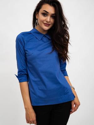 Блуза синяя | 5484272