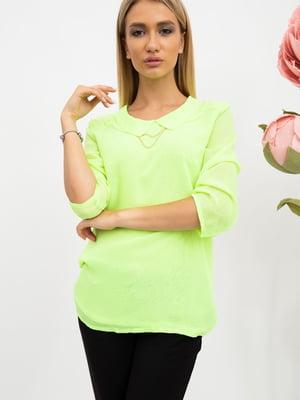Блуза салатового цвета | 5484293