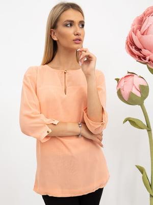 Блуза персикового цвета | 5484300