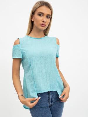 Блуза цвета мяты | 5484311
