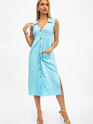 Платье голубое | 5484472
