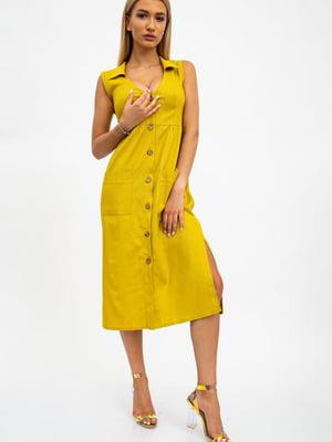 Платье цвета горчицы | 5484473