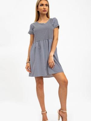 Платье сине-белое в полоску | 5484477