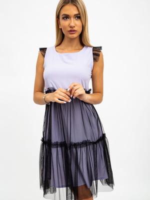 Платье сиренево-черное | 5484501