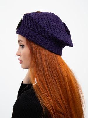 Шапка фиолетовая с узором | 5484666