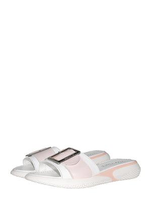 Шльопанці рожево-білі | 5484764