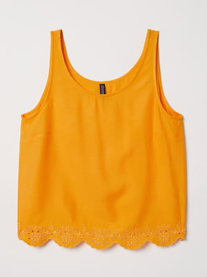 Майка помаранчевого кольору з вишивкою   5485127