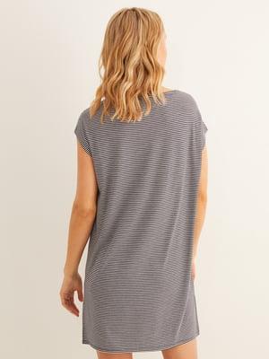 Сорочка нічна у смужку і принт | 5485735