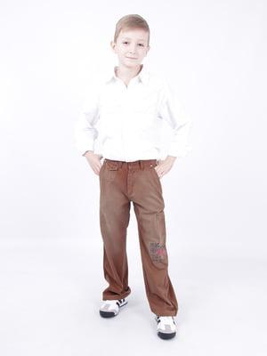 Штаны из котона, средней плотности, для мальчиков. Легкая, натуральная, хлопковая ткань; снабжены, дополнительно, резинками-утяжками на поясе. Декорированы накаткой. | 5351616