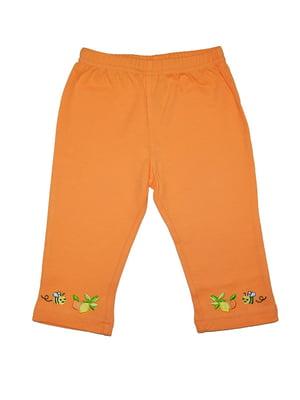 Штани помаранчеві з малюнком | 5485947