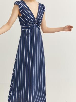 Платье синее в полоску | 5485876