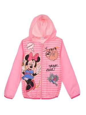 Куртка рожева в принт | 5486080