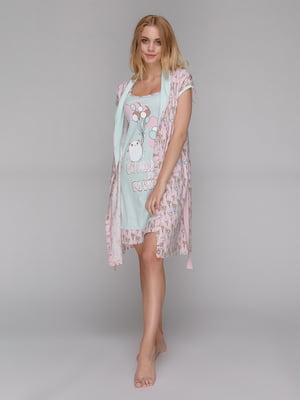 Комплект: рубашка ночная и халат | 5487208