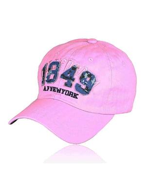 Бейсболка рожева з малюнком | 5487387
