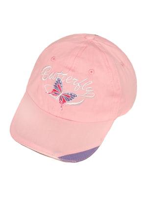 Кепка розовая с рисунком | 5487431