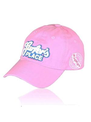 Бейсболка рожева з малюнком | 5487467
