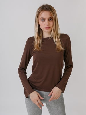 Лонгслів коричневий | 5479026