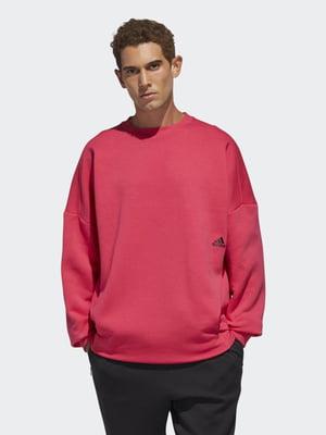 Джемпер кораллового цвета с логотипом   5487729