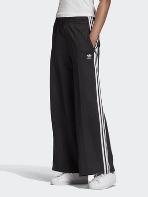 Штани чорно-білі з логотипом | 5487730