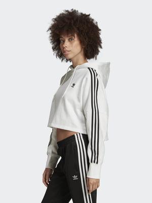 Худі біло-чорна з логотипом | 5487741