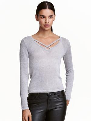 Пуловер сірий | 5487816
